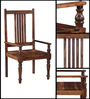 Raylestone Arm Chair in Provincial Teak Finish by Amberville