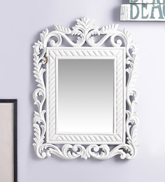Decorhand MDF White Mirror - 1566304