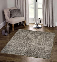 Designs View Grey Wool 96 X 60 Inch Hand Tufted In 3D Look Area Rug