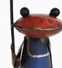 De Kulture Works Multicolour Iron Recycled Frog Bottle Top Showpiece