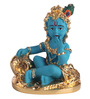 Decardo Blue & Golden Terracotta with Gold Plating Bal Krishna Idol