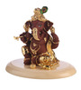 Decardo Brown & Golden Terracotta with Gold Plating Ganesh Idol
