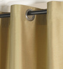 Deco Essential Amber Green Polyester 46 x 90 Inch Jacquard Eyelet Door Curtain - Set of 2