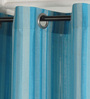 Deco Essential Turquoise Polyester 46 x 90 Inch Jacquard Eyelet Door Curtain - Set of 2