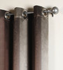 Deco Window Chocolate Brown Polyester 42 x 96 Inch Door Curtain - Set of 2