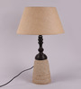 Ozma Table Lamp in Natural by Bohemiana
