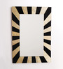 Renaissance Mirrors Black & Beige MDF Rectangular Decorative Mirror