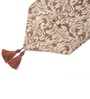 Decorika Brown Velvet Floral Table Runner