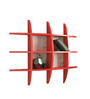 Decornation Red MDF Wall-Mounted Shelf