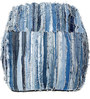 Denim Pouffe in Blue Colour by SWHF