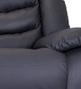 Denver Three Seater Recliner in Jet Black Colour by Durian