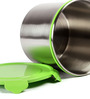 Deseo Penta Green Stainless Steel 3.5 L Storage Container - Set of 2