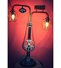 Desi Jugaad Grey Metal Floor Lamp