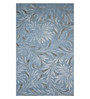 Designs View Blue Wool & Viscose 96 x 60 Inch Hand Tufted Flower Design Area Rug
