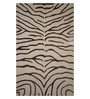 Designs View Brown & Ivory Wool & Viscose 96 x 60 Inch Hand Tufted Zebra Design Area Rug