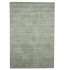 Designs View Light Green Viscose & Cotton 48 x 72 Inch Handloom Solid Carpet