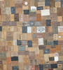 Designs View Multicolour Leather Fabric 96 x 60 Inch Hand Stitched Patch Work Area Rug