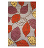 Designs View Multicolour Wool 120 x 78 Inch Hand Tufted Leaf Design Area Rug