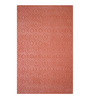 Designs View Peach Fine Indian Blended Wool 96 x 60 Inch Handloom Tufted Carved Design Carpet