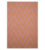 Designs View Peach Wool 72 x 48 Inch Hand Made Area Rug