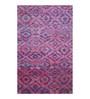 Designs View Purple Recycled Saree Silk 96 x 60 Inch Hand Knotted Floor Covering Cho-Cho Carpet
