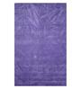 Designs View Purple Wool 90 x 60 Inch Hand Tuft Leaf Design Area Rug