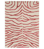 Designs View Red & Ivory Wool & Viscose 48 x 72 Inch Hand Tufted Zebra Design Carpet
