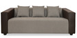 Diana Three Seater Sofa in Dark Brown Colour by @ Home