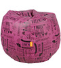 Digital Printed Bean Bag (Filled with Beans) by Orka