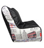 Digital Printed Bean Chair Cover in Multicolour by Orka