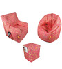 Digital Printed Big Boss Chair & Arm Chair (XXXL) & Puffy with Beans by Orka