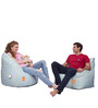 Digital Printed Big Boss Chair & Arm Chair (XXXL) Combo without Beans by Orka