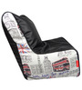 Digital Printed Filled Bean Chair in Multicolour by Orka