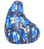 Digital Printed XL Bean Bag Filled with Beans in Blue Camouflage by Can