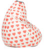 Digital Printed XL Bean Bag Filled with Beans with Heart Theme by Can