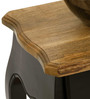 Dinan Side Table in Black & Natural Finish by The ArmChair