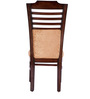 Dining Chair with Beige Upholstery & Brown Polish by Karigar