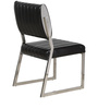 Dining Chair with Chrome Legs in Black Colour by Penache Furnishings