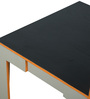 Dining Chair with Straight Back in Black Laminate by DesignBar