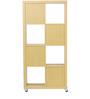 Naruki Display Unit cum Book Shelf in Maple Finish by Mintwud