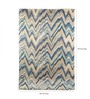 Divine Blue Polyester 90 x 60 Inch Surge Area Rug