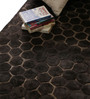 Divine Charcoal Polyester 60 x 35 Inch Concave Area Rug