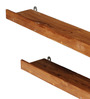 Valparaiso Contemporary Wall Shelves Set of 2 in Brown by CasaCraft