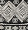 Diwa Home Black Cotton 16 x 16 Inch Ikat Cushion Cover