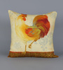 Diwa Home Multicolour Cotton 18 x 18 Inch Rooster Cushion Cover