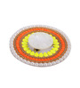 Largessee Gold Acrylic Diwali Bead Square T Light