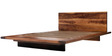 Donald Solid Wood Queen Bed in Brown Colour by Asian Arts