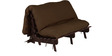 Double Futon with Mattress in Chocolate Colour by Auspicious