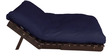 Double Futon with Mattress in Dark Blue Colour by Auspicious