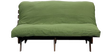 Double Futon with Mattress in Green Colour by Auspicious